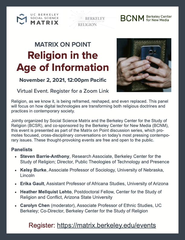 Matrix on Point: Religion in the Age of Information